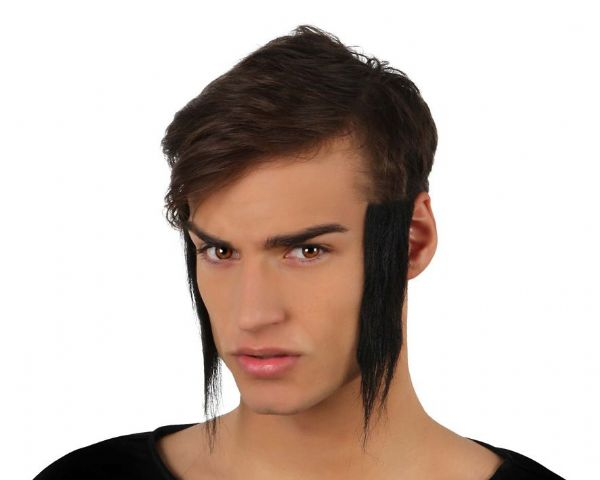 Hair Sideburns Long 23 x 5 x 22cm 50s Rockabilly Rock n Roll 50s